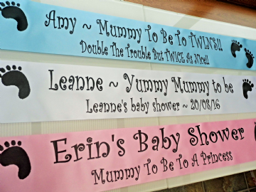 Baby Shower Sash Personalised